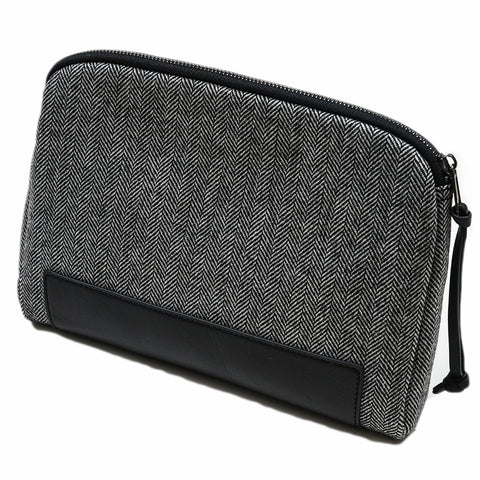 Windhoek I Pad Case - Black/White Herringbone-Grayers