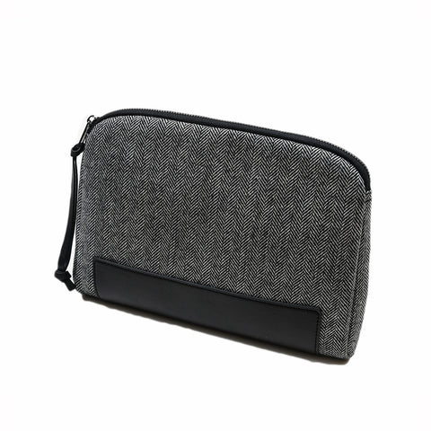 Windhoek I Pad Case -  Black/White Herringbone