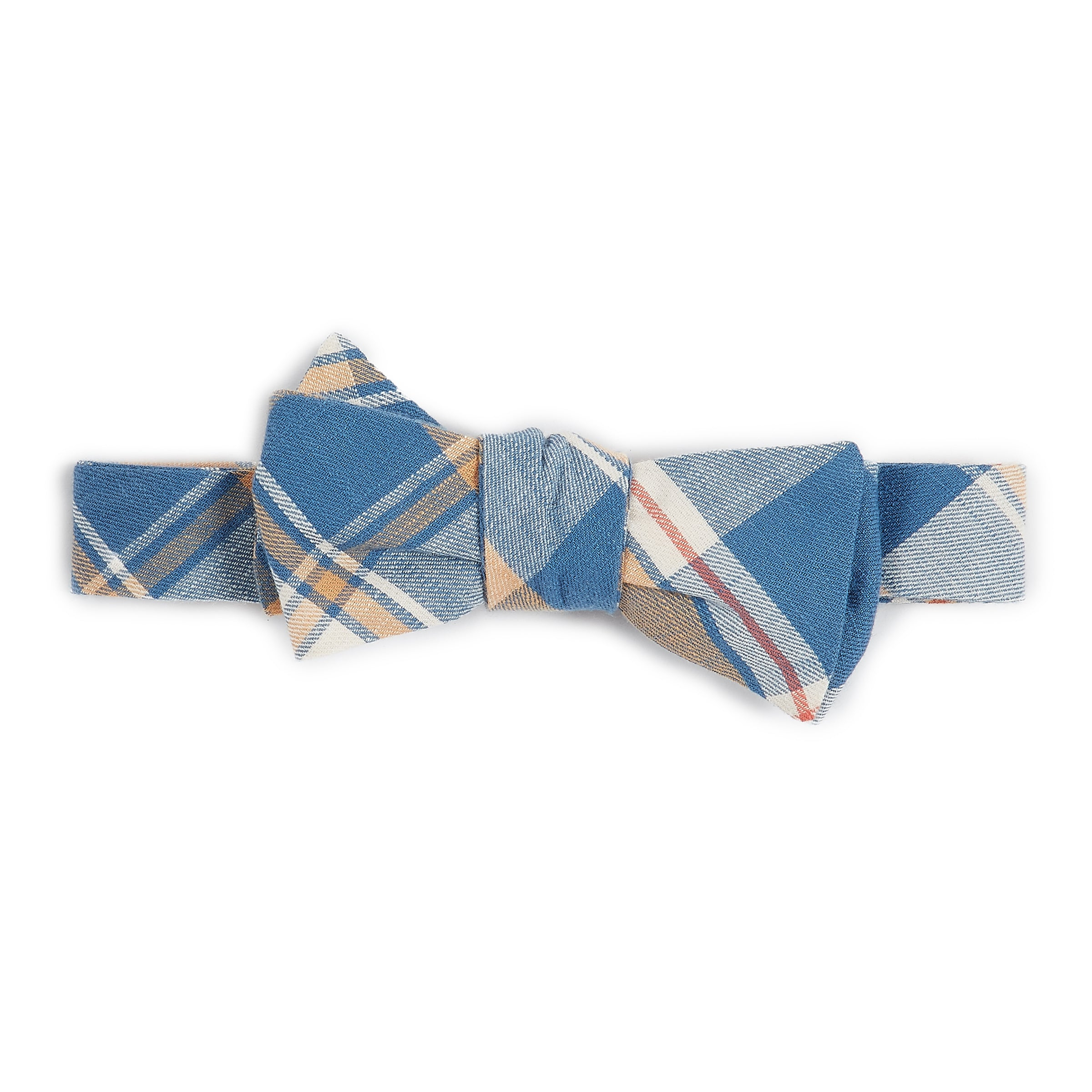 Bow Tie - Blue Mustard Red