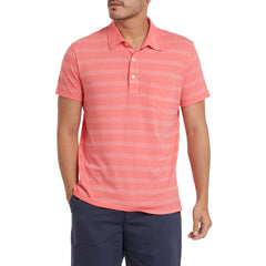 Hastings Tonal Stripe Polo - Claret Red