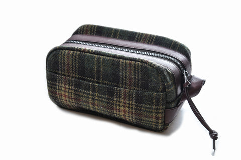 Windhoek Wool Travel Kit - Olive Brown Plaid