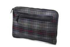 Windhoek Laptop Cover - Charcoal Multi-Color Plaid-Grayers