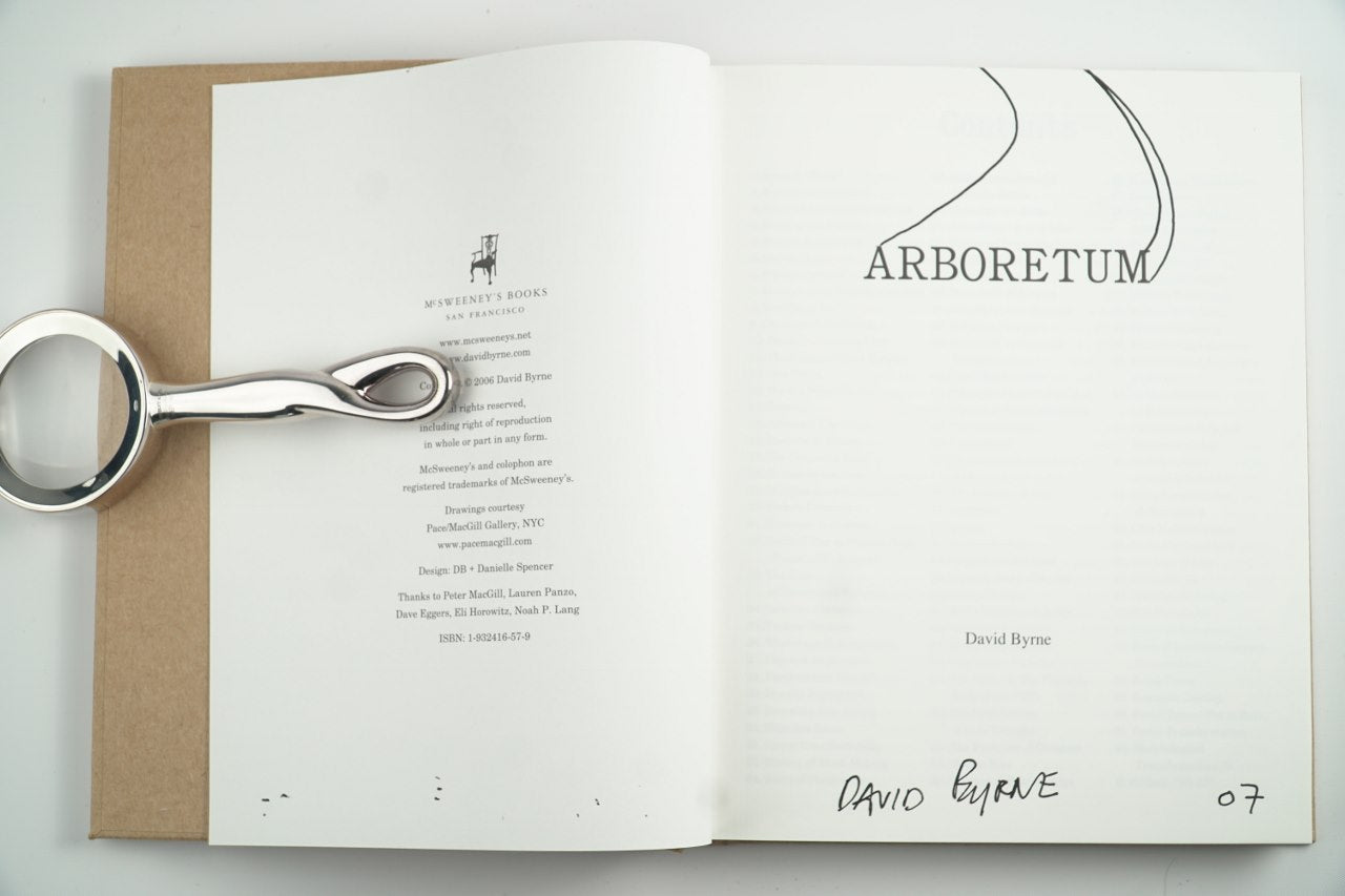 Arboretum First Edition Signed Book By David Byrne