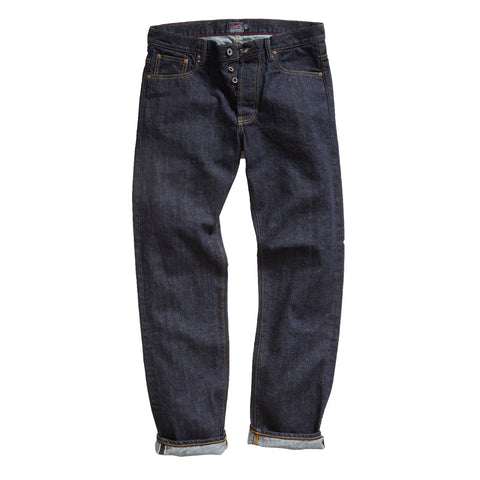 Edward Japanese Selvedge Straight Leg - Indigo/Once Washed