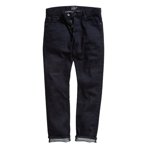Crawford Kurabo Slim Fit Japanese Stretch  Selvedge - Deep Indigo/Rinse