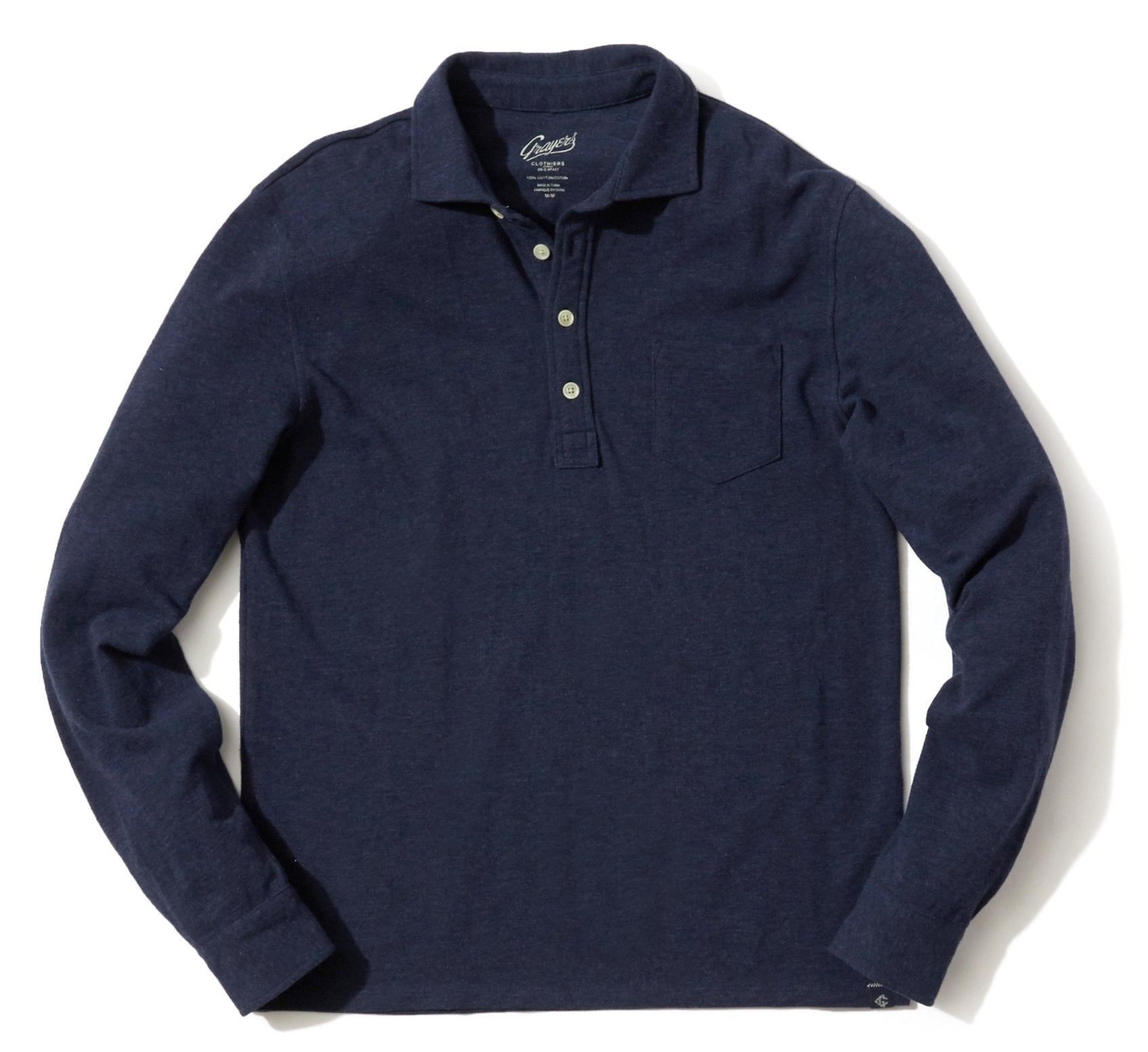 Ainsworth Pique Polo - Navy Heather