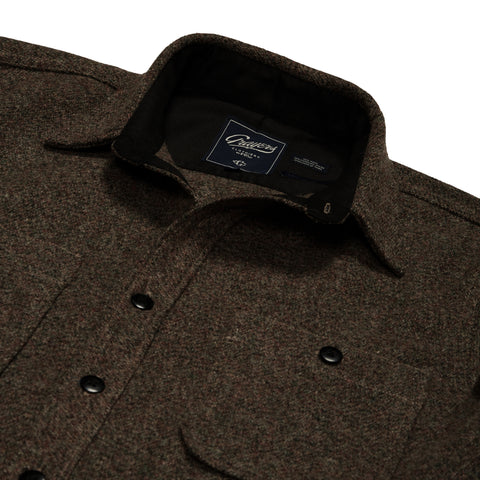 Pembroke Wool Shirt Jacket - Brown Heather-Grayers