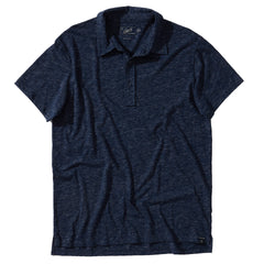 Hartford Slub Nep Jersey Polo - Denim Blue