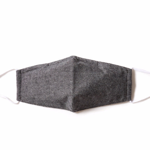 Gray Chambray  4-ply  Face Mask - Pack of 5
