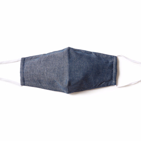 Blue Chambray  4-ply  Face Mask - Pack of 5