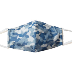 Camo Indigo Print 3-ply Face Mask - Pack of 5