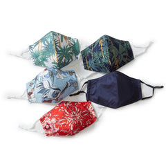 Floral Print Multi Pattern 3-ply Face Mask - Pack of 5