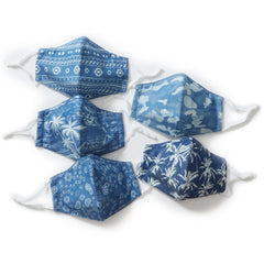 Indigo Multi Pattern Mix 3-ply Face Mask - Pack of 5