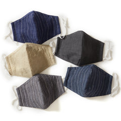 Newport Linen Mix 4-Ply Face Mask - Pack of 5