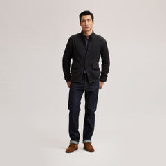 Mortimer's Funnel Cardigan - Black Oyster