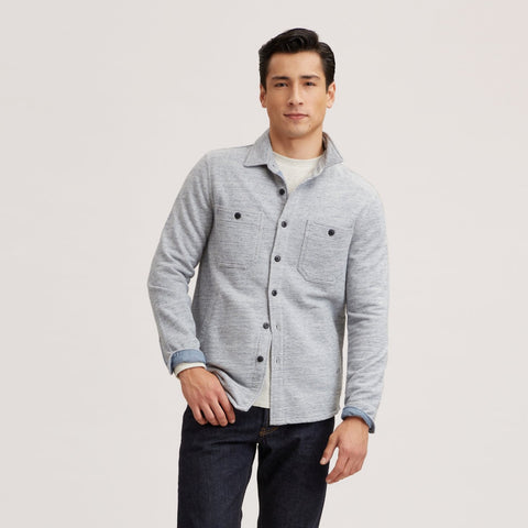 Bayswater CPO Shirt Jacket - Light Blue Heather