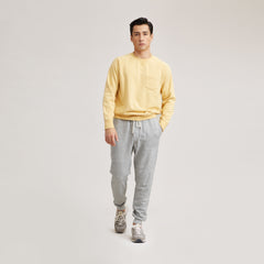 Nolan Marled Fleece Crew Neck - Rattan