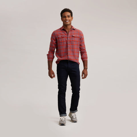 Tartan Heritage Flannel Shirt - Red / Blue Plaid