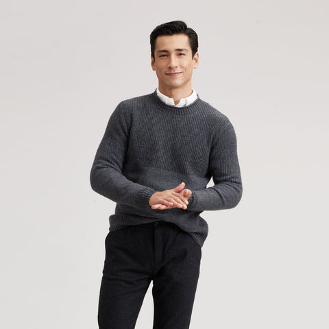Aspen Cashmere Roll Neck - Charcoal