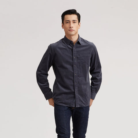 Sutherland Stretch Corduroy Shirt - Pewter