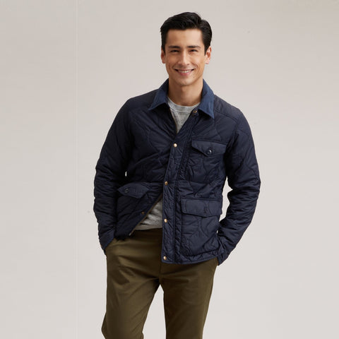 Andrew Light Weight Quilted Jacket - Navy
