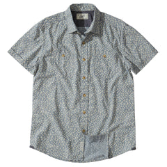 Drayton Printed Chambray Shirt - Aegean Blue Whisper