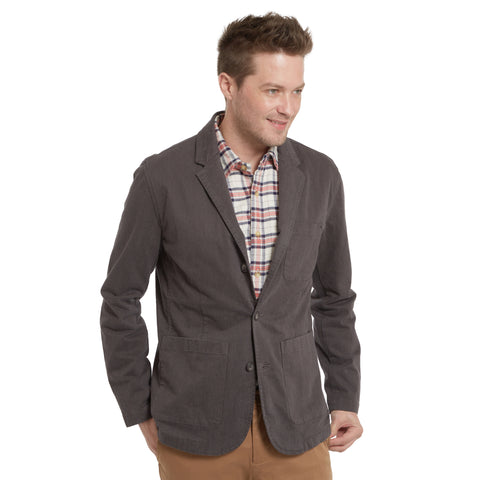 Carnaby Stretch Double-Weave Blazer - Burnt Umber