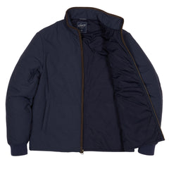 Grove Nylon Quilted Jacket - Dark Blue