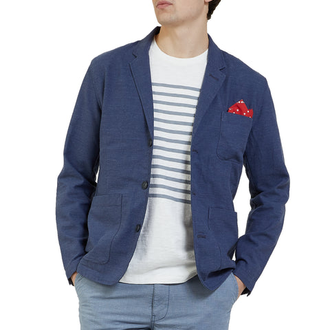 The Poindexter Stretch 3-Button Sport Coat - Navy Heather-Grayers