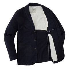 Cavalry Stretch Twill Blazer - Navy