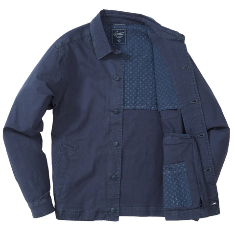 Wrigley Stretch Canvas Shirt Jacket - Ombre Blue