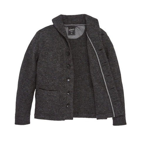 Birch Boiled Wool Blazer - Gray Heather