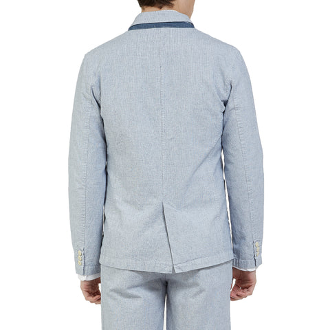 Eastvale 3 Button Blazer - Blue-Grayers