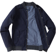 Graham Stretch Dobby Bomber - Navy