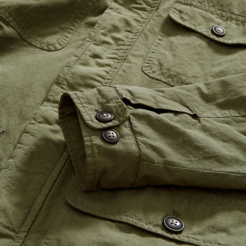 Canvas Field Coat - Mermaid