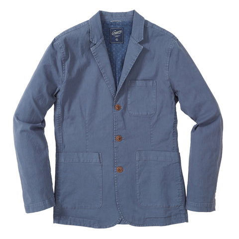 Newport Stretch 3 Button Blazer - Grisaille Blue