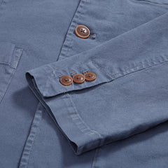 Newport Stretch 3 Button Blazer -Light Blue Grisaille