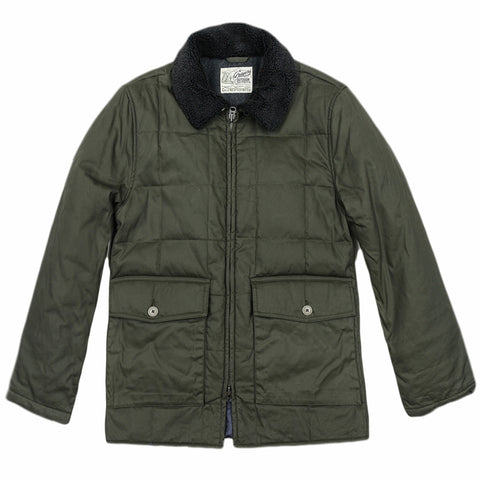 Montana Waxed & Quilted Parka - Olive