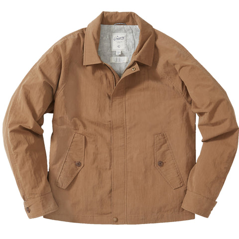 Crinkle Poplin Windbreaker - Saddle