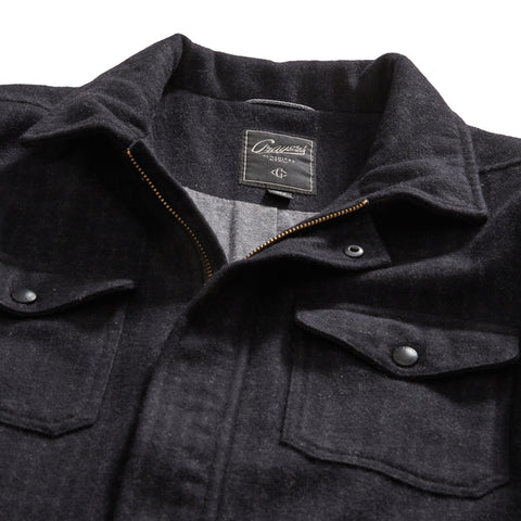 Portland Wool Jacket - Charcoal Black