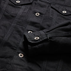 Denton Japanese Selvedge Trucker Jacket - Double Black /Rinse
