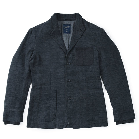 Saratoga Double Cloth - Charcoal Navy Stone