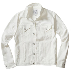 Denton Japanese Selvedge Trucker Jacket - White Denim/Vintage Washed