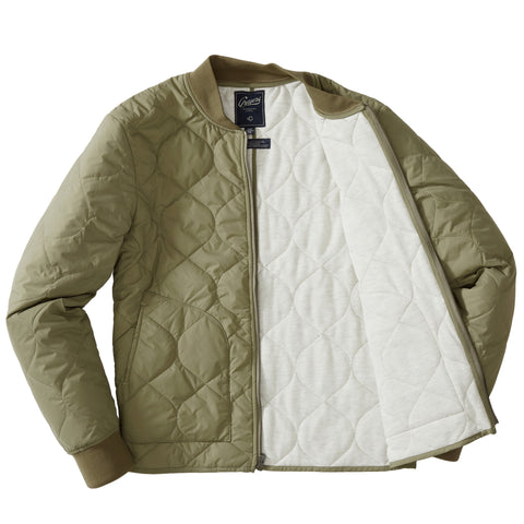 Daines Light Weight Quilted Bomber - Olive