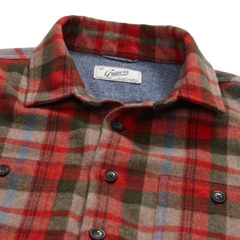 Alder Wool CPO Shirt Jacket - Multi Color Plaid