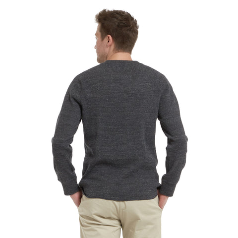 New Spencer Waffle Crew - Charcoal