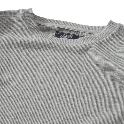 New Spencer Waffle Crew - Gray Heather