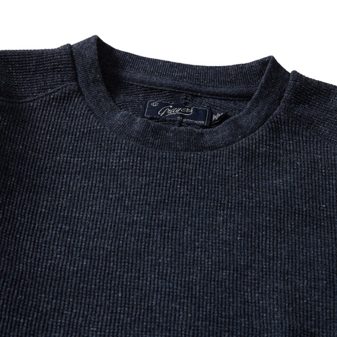 New Spencer Waffle Crew - Navy Heather