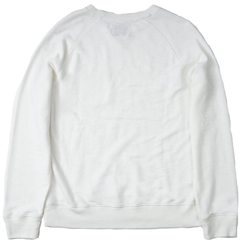 Montague Crew Neck Sweatshirt - Chalk White Twill Terry-Grayers