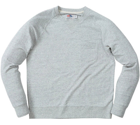 Momo Light Weight Terry Crew - Light Gray Heather